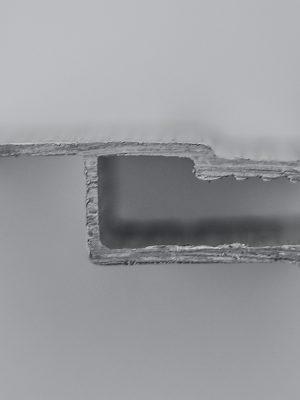 پروفیل سفید h سقف کشسان